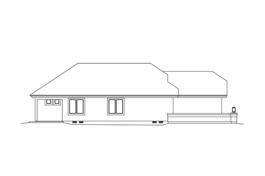 138-1254: Home Plan Left Elevation