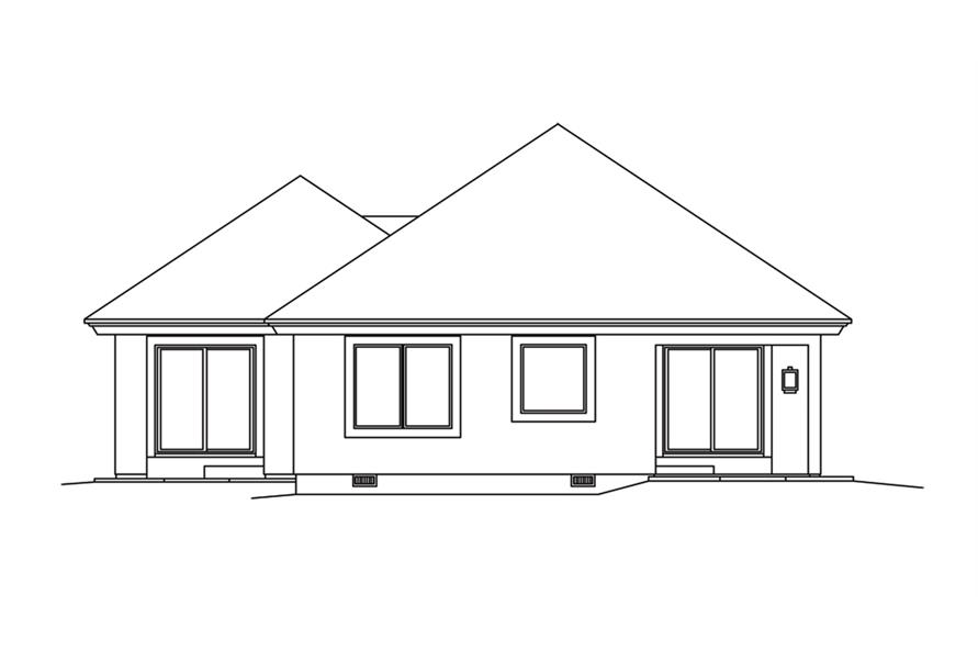 138-1254: Home Plan Rear Elevation