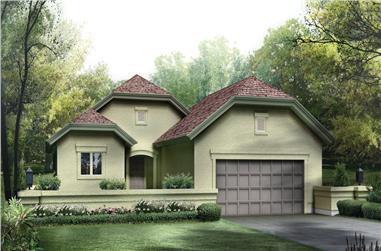 3-Bedroom, 1522 Sq Ft Ranch Home-  Plan #138-1254 - Main Exterior