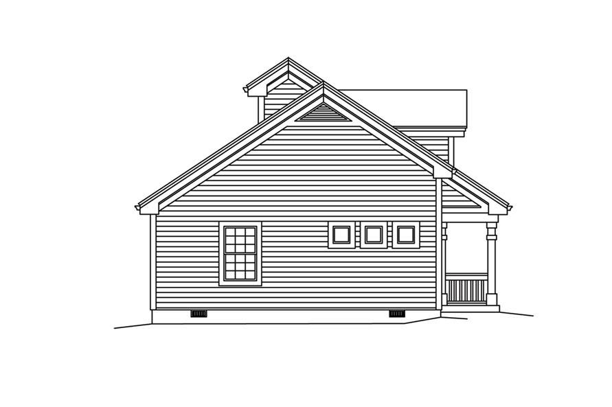 138-1255: Home Plan Left Elevation