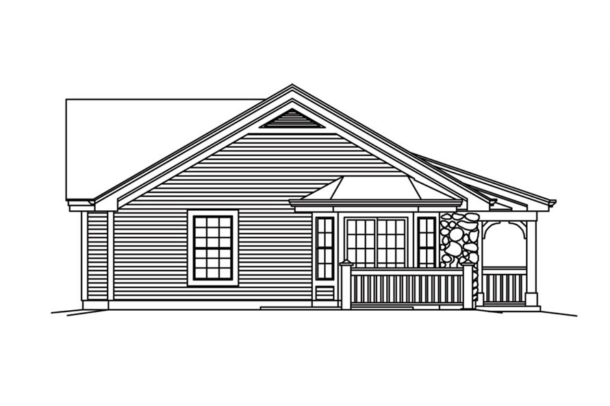 138-1256: Home Plan Left Elevation