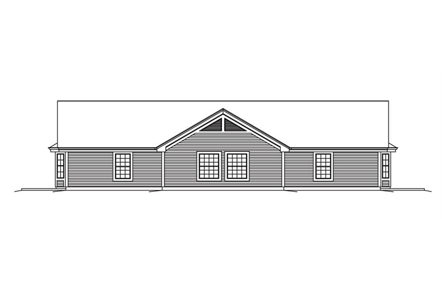 138-1256: Home Plan Rear Elevation