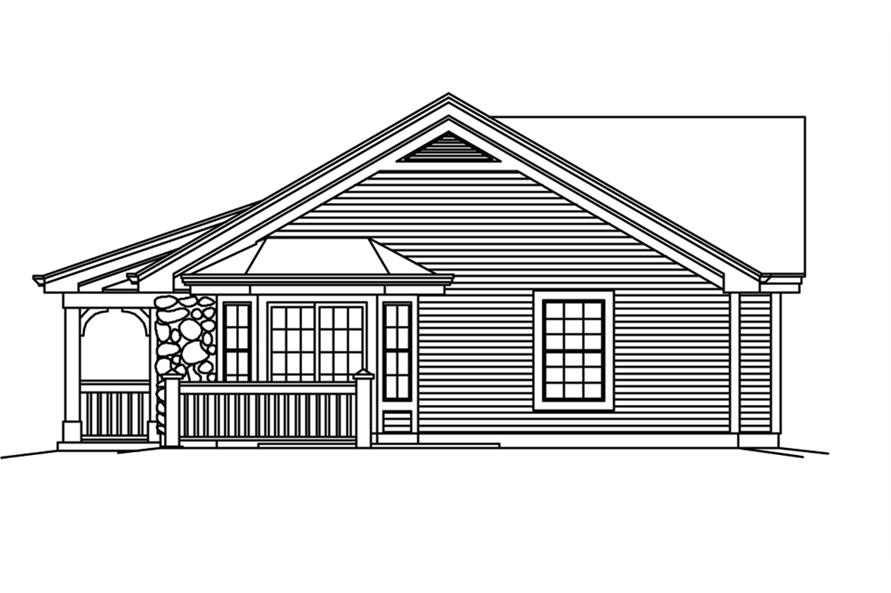 138-1256: Home Plan Right Elevation