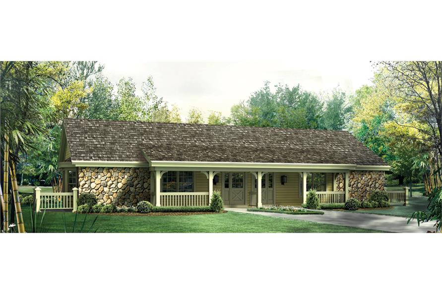 Front elevation of Multi-Unit home (ThePlanCollection: House Plan #138-1256)