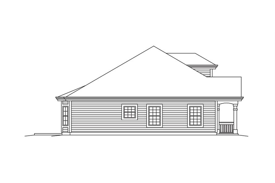 Home Plan Left Elevation of this 2-Bedroom,2008 Sq Ft Plan -138-1257