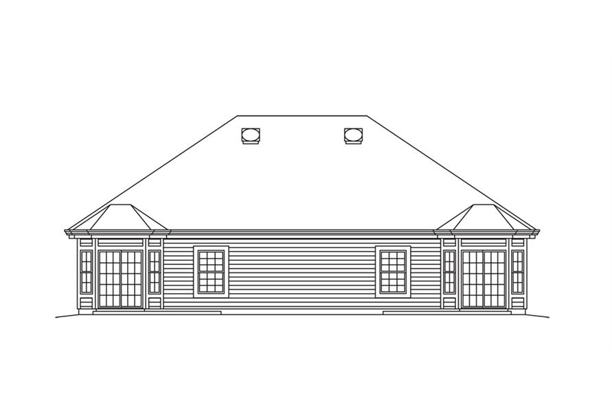 138-1257: Home Plan Rear Elevation