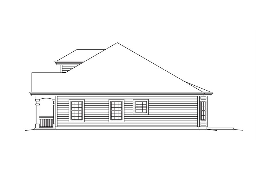 Home Plan Right Elevation of this 2-Bedroom,2008 Sq Ft Plan -138-1257