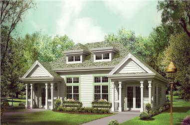 2-Bedroom, 2008 Sq Ft Multi-Unit Home Plan - 138-1257 - Main Exterior