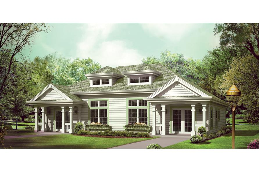 Front elevation of Multi-Unit home (ThePlanCollection: House Plan #138-1257)