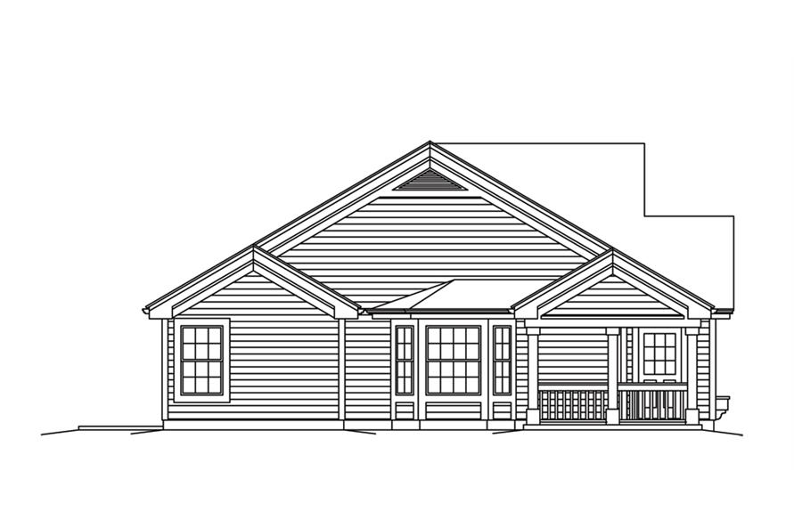 Home Plan Right Elevation of this 2-Bedroom,2030 Sq Ft Plan -138-1258