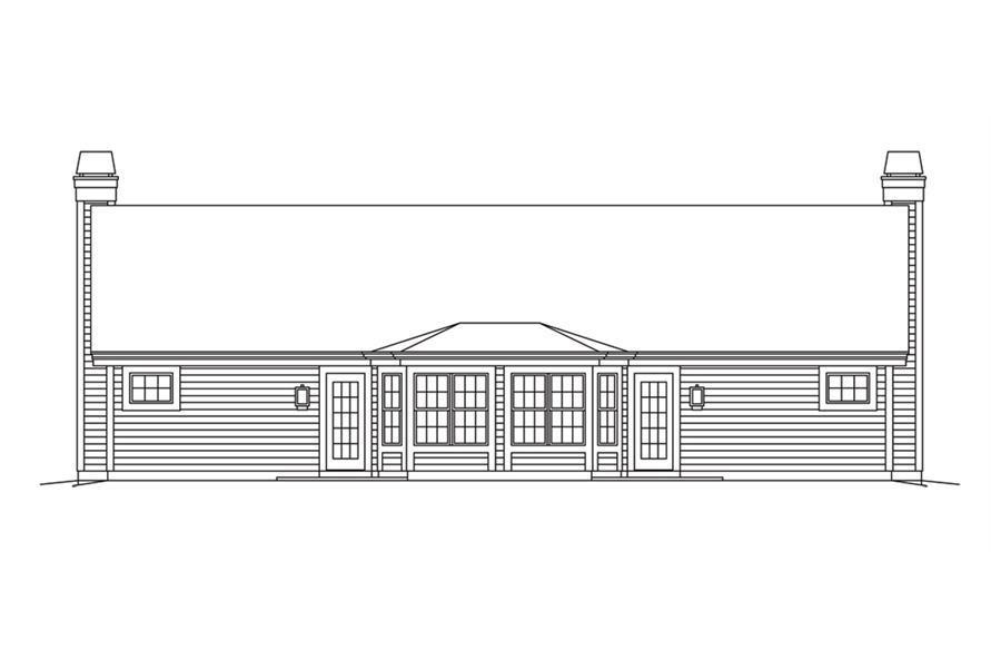 138-1259: Home Plan Rear Elevation