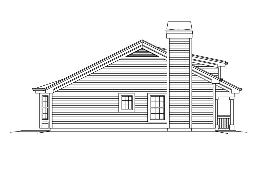 138-1259: Home Plan Right Elevation