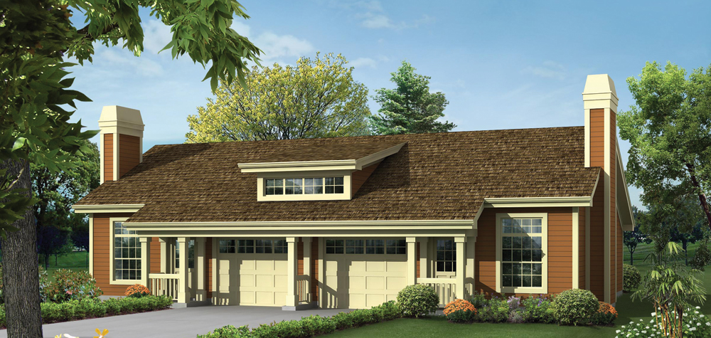 Multi unit house plan 138 1259 2 unit 1 bedrm 1306 sq for Multi unit home plans