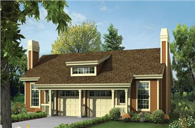 1-Bedroom, 1306 Sq Ft Multi-Unit House Plan - 138-1259 - Front Exterior