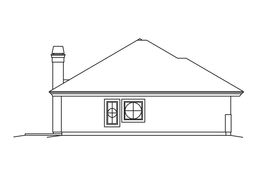 Home Plan Left Elevation of this 2-Bedroom,2602 Sq Ft Plan -138-1260