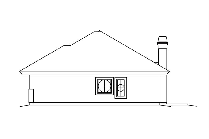 Home Plan Right Elevation of this 2-Bedroom,2602 Sq Ft Plan -138-1260