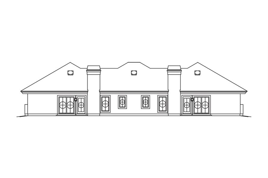 138-1260: Home Plan Rear Elevation