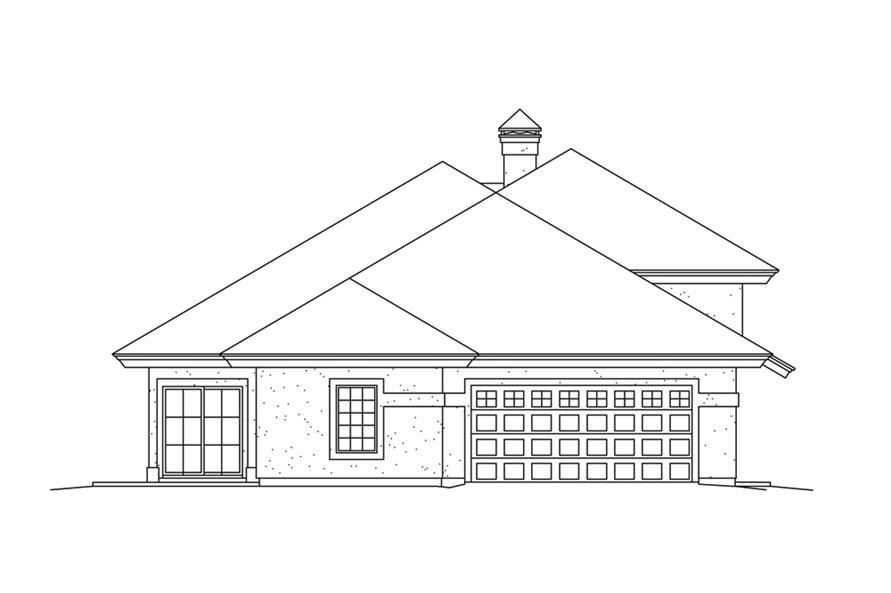 138-1261: Home Plan Left Elevation