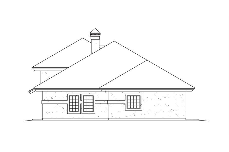 138-1261: Home Plan Right Elevation
