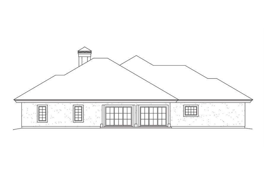 138-1261: Home Plan Rear Elevation