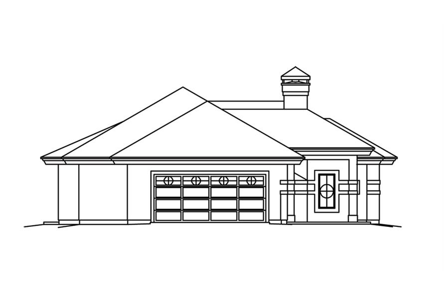 138-1262: Home Plan Left Elevation