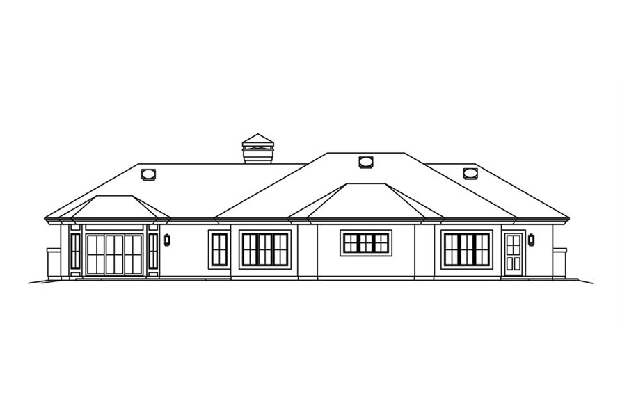 138-1262: Home Plan Rear Elevation