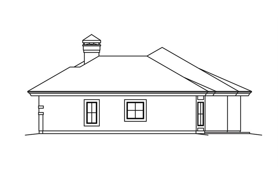 138-1262: Home Plan Right Elevation