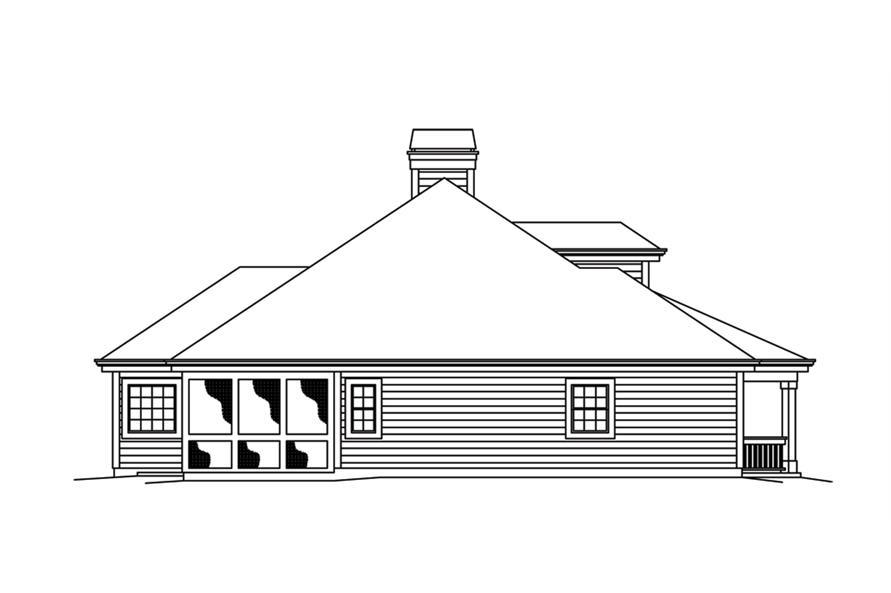 138-1263: Home Plan Left Elevation