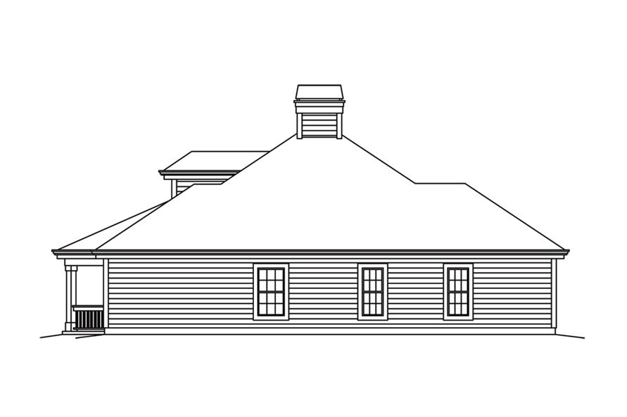 138-1263: Home Plan Right Elevation