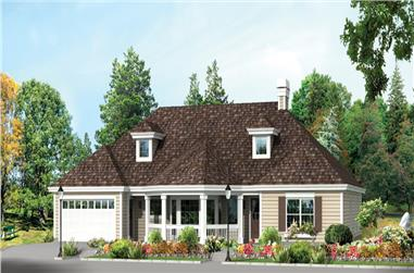3-Bedroom, 2312 Sq Ft Traditional Home Plan - 138-1263 - Main Exterior