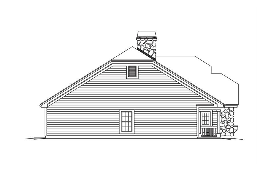 138-1264: Home Plan Left Elevation