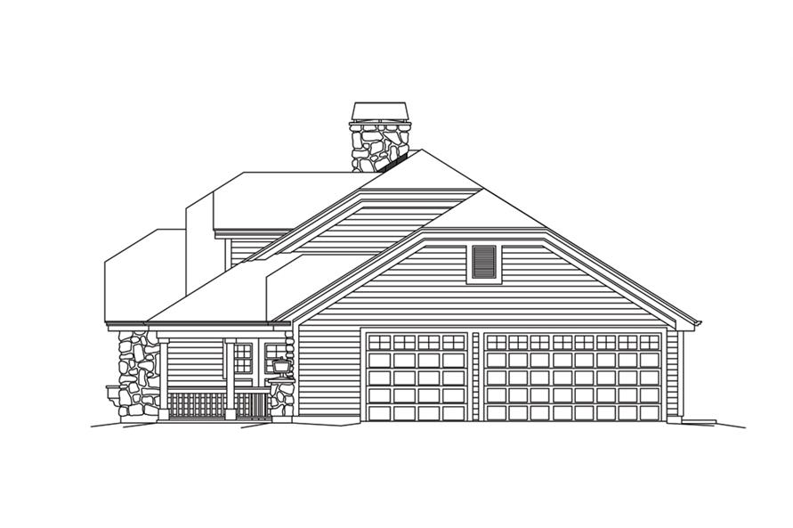 138-1264: Home Plan Right Elevation