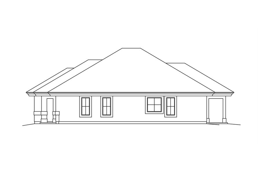 138-1265: Home Plan Right Elevation