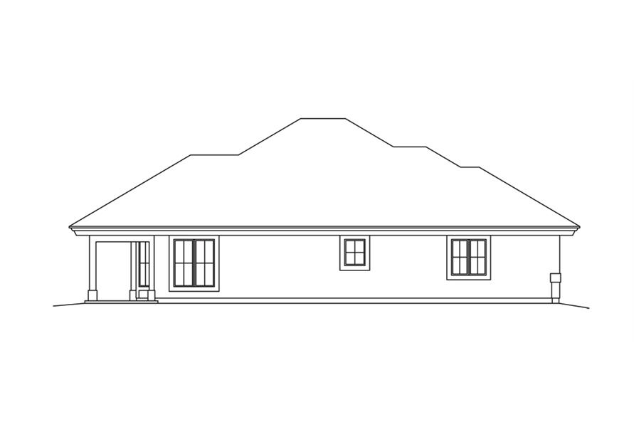 138-1265: Home Plan Left Elevation
