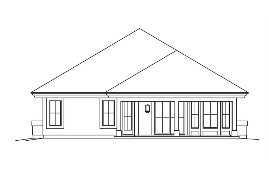 138-1265: Home Plan Rear Elevation
