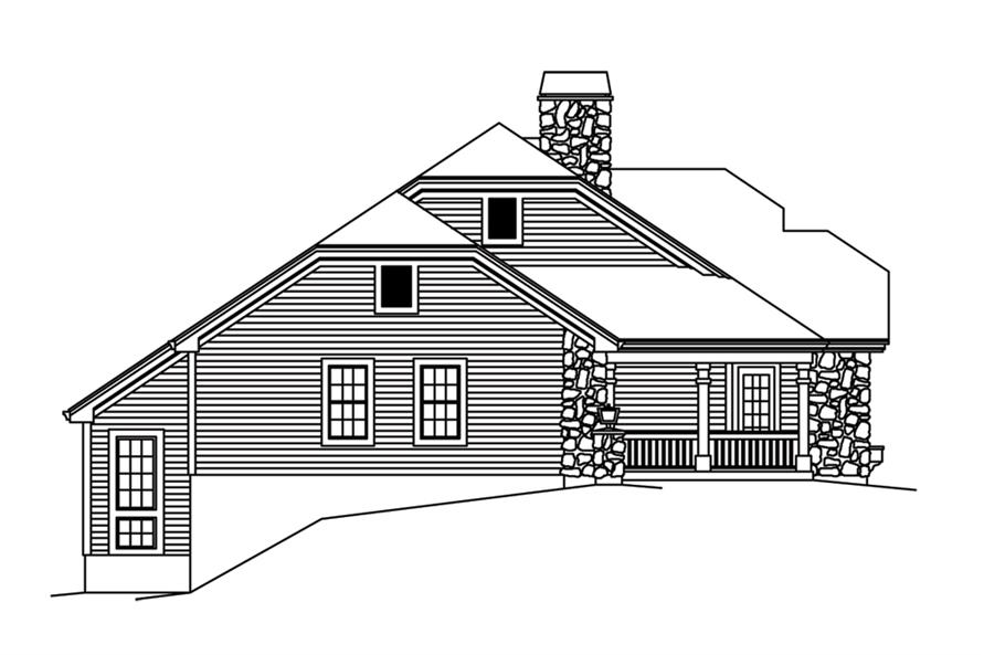 138-1266: Home Plan Left Elevation