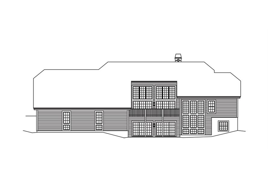 138-1266: Home Plan Rear Elevation
