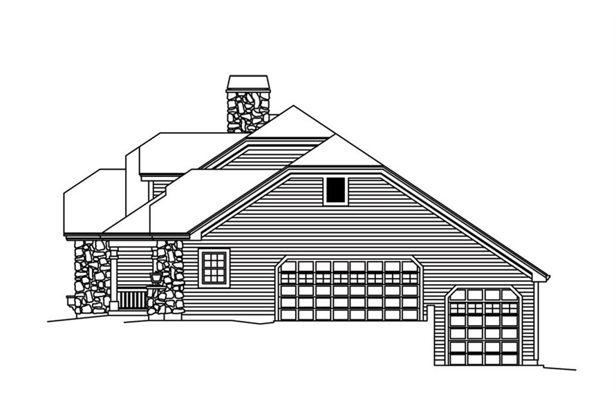 138-1266: Home Plan Right Elevation