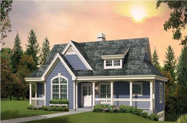 3-Bedroom, 1676 Sq Ft Country Home Plan - 138-1268 - Main Exterior