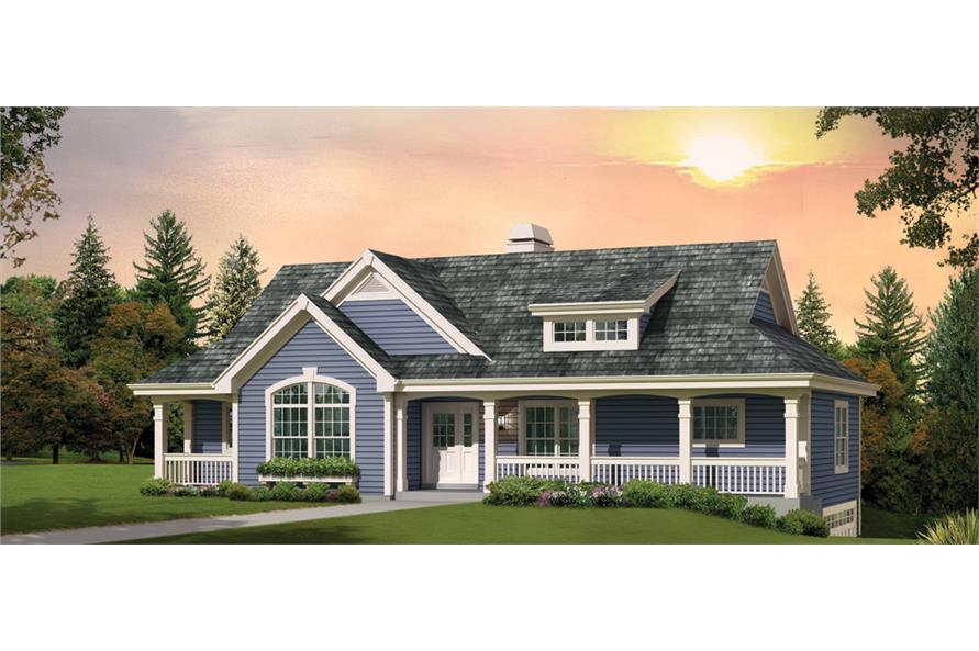 Front elevation of Country home (ThePlanCollection: House Plan #138-1268)