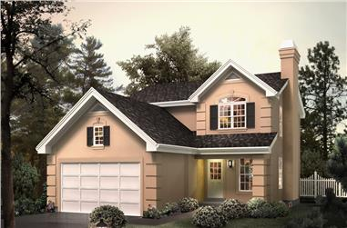3-Bedroom, 1994 Sq Ft Traditional Home Plan - 138-1269 - Main Exterior