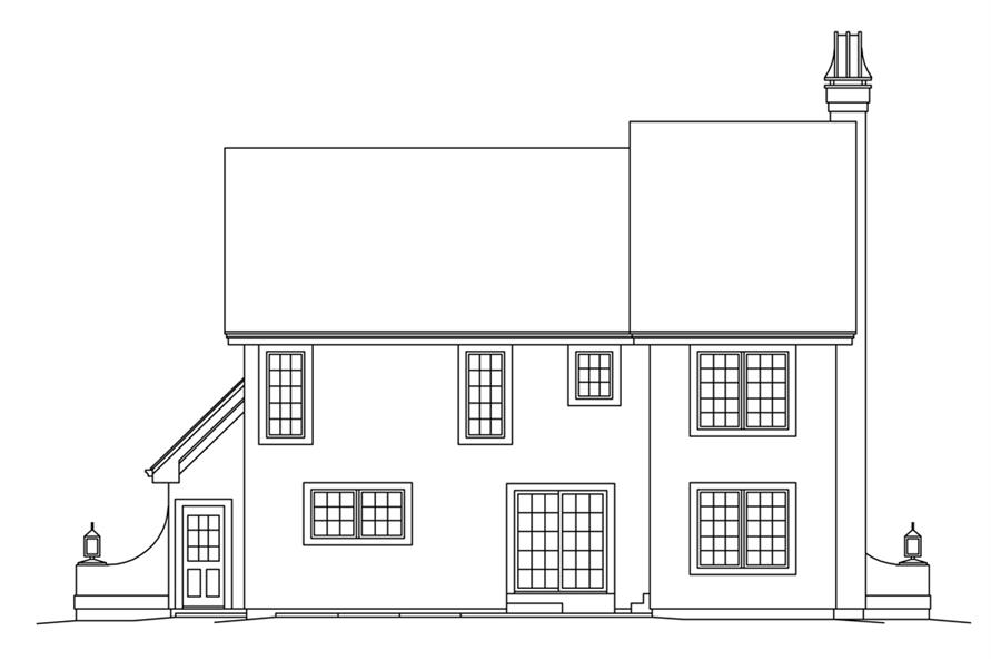 Home Plan Rear Elevation of this 3-Bedroom,2250 Sq Ft Plan -138-1270