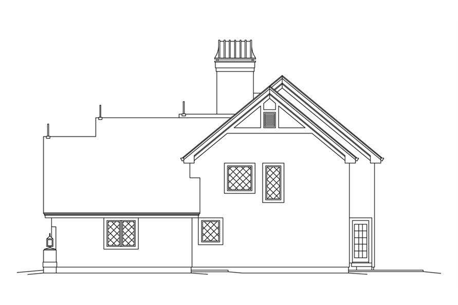 Home Plan Right Elevation of this 3-Bedroom,2250 Sq Ft Plan -138-1270