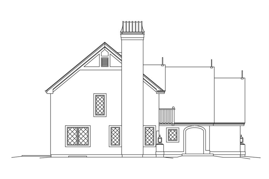 Home Plan Left Elevation of this 3-Bedroom,2250 Sq Ft Plan -138-1270