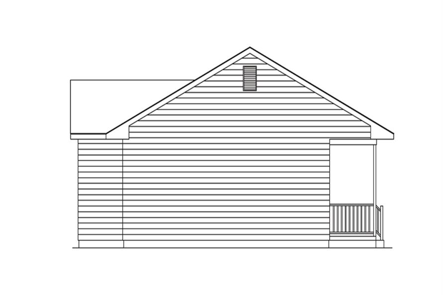 138-1271: Home Plan Left Elevation
