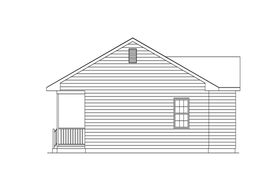 138-1271: Home Plan Right Elevation