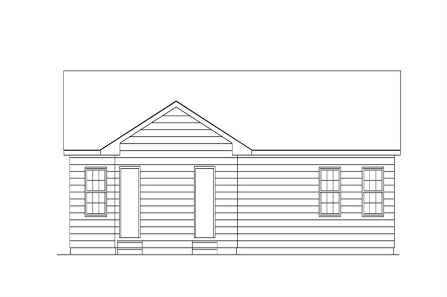 138-1271: Home Plan Rear Elevation