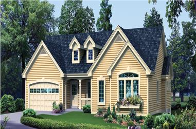 4-Bedroom, 1912 Sq Ft Ranch House Plan - 138-1272 - Front Exterior