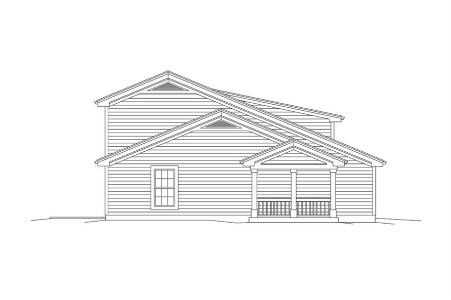 Home Plan Left Elevation of this 1-Bedroom,1086 Sq Ft Plan -138-1274