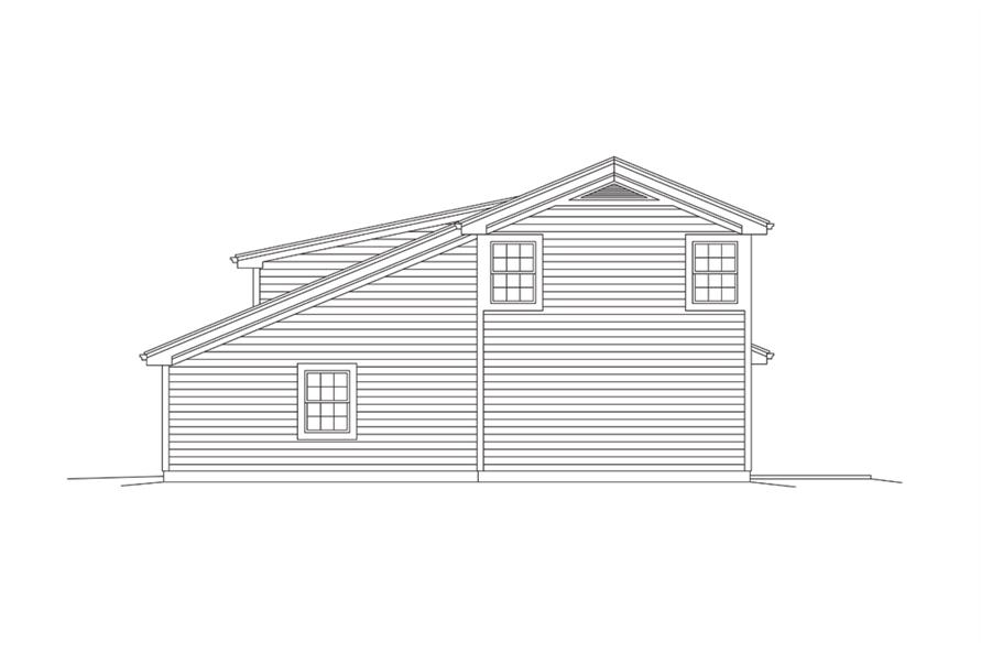 Home Plan Right Elevation of this 1-Bedroom,1086 Sq Ft Plan -138-1274
